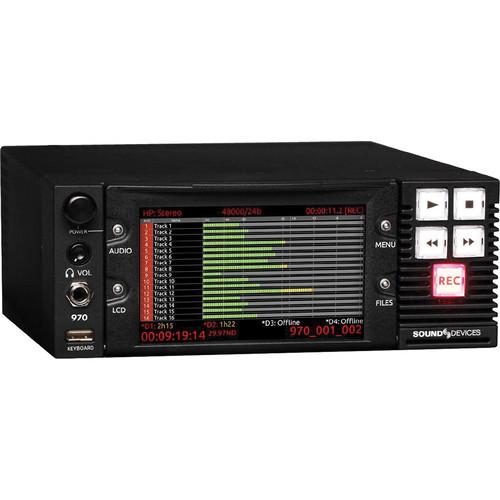 970 Цифровой диктофон Sound Devices 64-Track Dante And MADI Audio Recorder