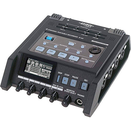 R-44-E Цифровой диктофон Roland Solid-State Four-Channel Portable Field Recorder
