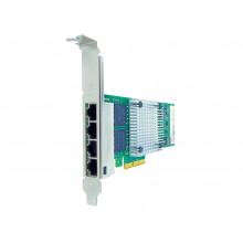 00AG520-AX Сетевая карта Axiom 10/100/1000Mbs Quad Port RJ45 PCIe x4 NIC Card for Lenovo - 00AG520