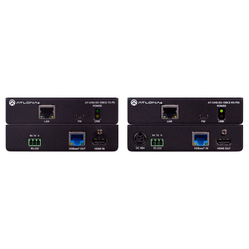 100CER-POE-EXT Видео удлинитель/репитер ATLONA 4K HDMI over HDBaseT Extender Kit with Ethernet, Control, & PoE (328')