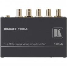 104LN Усилитель-распределитель 1:4 видео с дифференциальным входом Kramer 104LN 1x4 Composite Video Line Amplifier, Differential Input