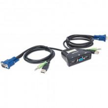 151245 KVM Переключатель MANHATTAN 2-Port Mini KVM Switch