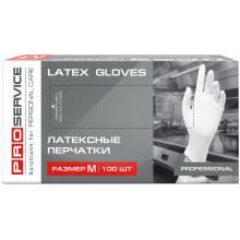 Перчатки латексные PRO service Professional M 100 шт белые (17200820)