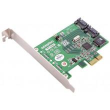 2232100-R Контроллер Adaptec 1220SA RAID 0/1 2 Channel SATA II PCIe Kit with Cables