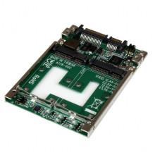 "25SAT22MSAT Адаптер Startech Dual mSATA SSD to 2.5"" SATA RAID Adapter Converter"