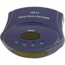 30506 KVM Переключатель C2G (Cables to Go) 4-Port USB 2.0 Manual Switch (Blue)