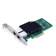406-BBKU-AX Сетевая карта Axiom 10Gbs Dual Port RJ45 PCIe 3.0 x4 NIC Card for Dell - 406-BBKU
