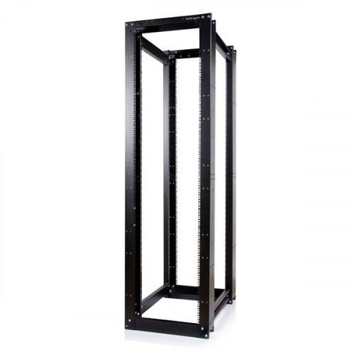 4POSTRACKHD Серверный шкаф Startech 45U 3300lb High Capacity 4 Post Open Server Equipment Rack - Flat Pack