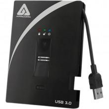 A25-3BIO256-S128 Защищенный внешний SSD накопитель Apricorn 128GB USB 3.0 Aegis Bio 3.0 (256-Bit AES-XTS)