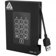 A25-3PL256-2000F Защищенный внешний жесткий диск Apricorn 2TB Aegis Padlock Fortress FIPS 140-2 USB 3.0 с PIN-доступом