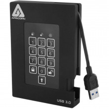 A25-3PL256-500F Защищенный внешний жесткий диск Apricorn 500GB Aegis Padlock Fortress FIPS 140-2 USB 3.0 с PIN-доступом