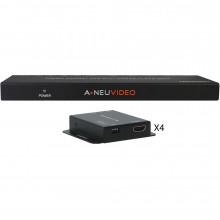 ANI-0104POE Видео удлинитель/репитер A-NEUVIDEO 1x4 HDMI Splitter and Extender over Cat5e/6 System