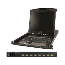 "AP5808 KVM консоль APC 17"" Rack LCD Console Rack with Integrated 8-Port Analog KVM Switch"