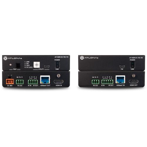 AT-HDR-EX-70C-KIT передатчик и приемник видеосигнала ATLONA 4K HDR Transmitter and Receiver Set with IR, RS-232, and PoE