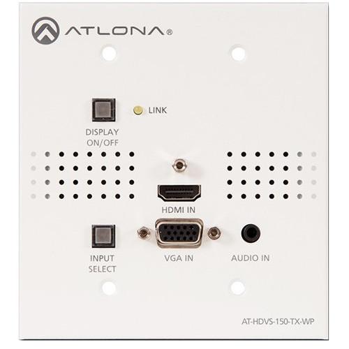 AT-HDVS-150-TX-WP Видео удлинитель/репитер ATLONA Two-Input HDMI / VGA to HDBaseT US Wall Plate Switcher