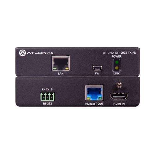AT-UHD-EX-100CE-TX-PD передатчик видеосигнала ATLONA 4K/UHD HDMI over HDBaseT Transmitter with Ethernet, Control, & PoE (328')