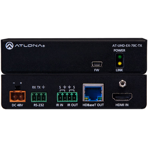 AT-UHD-EX-70C-TX передатчик видеосигнала ATLONA 4K/UHD HDMI Over HDBaseT Transmitter with Control and PoE