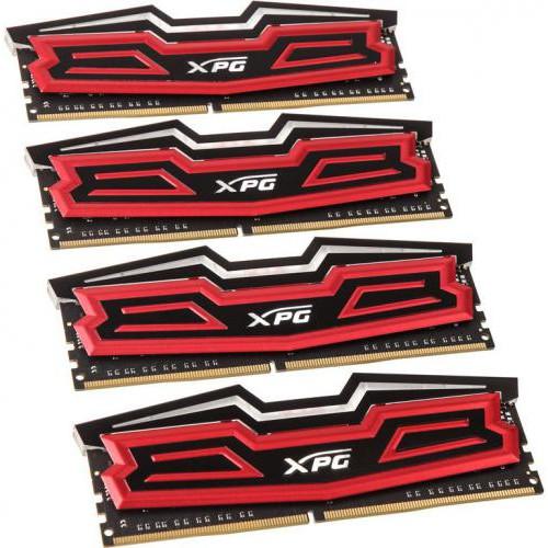 Оперативная память ADATA XPG Dazzle DDR4 32GB (4x8GB) 2400MHz CL16 LED Red (AX4U2400W8G16-QRD)