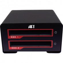 BJ-0200-R01 Внешний карман для HDD Atech Flash Technology Blackjet VX-2SSD USB 3.1 Gen 2 Type-C RAID Enclosure