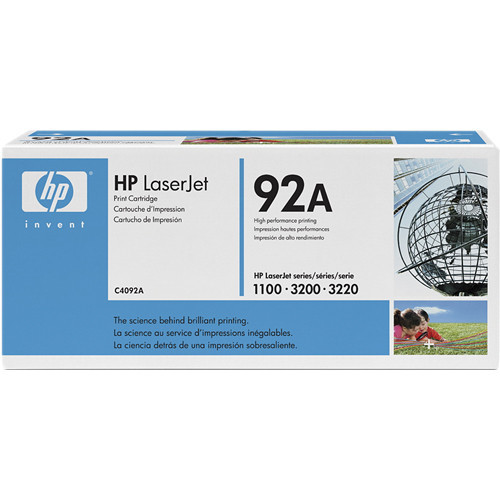 C4092A лазерный картридж HP LaserJet 92A Black Toner Cartridge - Черный