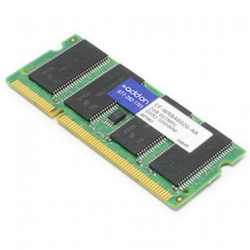 CF-WRBA602G-AA Оперативная память ADDON (Panasonic CF-WRBA602G Совместимый) 2GB DDR2-667MHz Unbuffered Dual Rank 1.8V 200-pin CL5 SODIMM