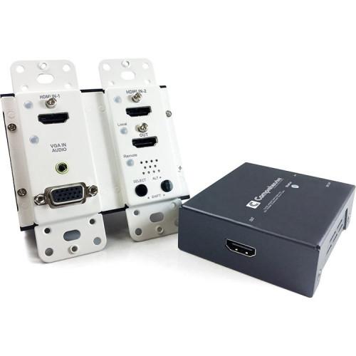 CHE-HDBTWP230K Видео удлинитель/репитер COMPREHENSIVE 4K HDBaseT Wall Plate Extender with HDMI & VGA/Audio