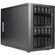 "DAGE1040DEBK-PM Дисковое хранилище iStarUSA 10-Bay 3.5"" SATA 6.0 Gb/s eSATA-Port Multiplier Trayless JBOD Enclosure (Black HDD Handles)"