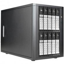 "DAGE1040DESL-PM Дисковое хранилище iStarUSA 10-Bay 3.5"" SATA 6.0 Gb/s eSATA-Port Multiplier Trayless JBOD Enclosure (Silver HDD Handles)"