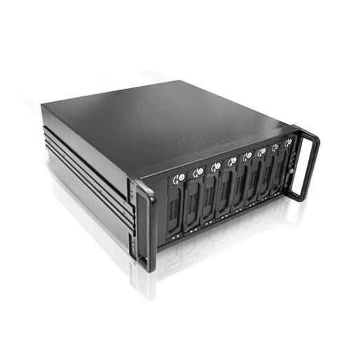 DAGE408U20T7-2MS Дисковое хранилище iStarUSA SFF8088 Mini-SAS 4U 8-Bay SATA JBOD 500W PSU Enclosure (Black)