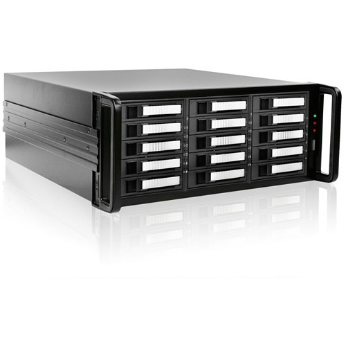DAGE415U20SL-PM Дисковое хранилище iStarUSA 4U 15-Bay SATA eSATA Port Multiplier JBOD Chassis with 750W Power Supply (Silver HDD Handles)