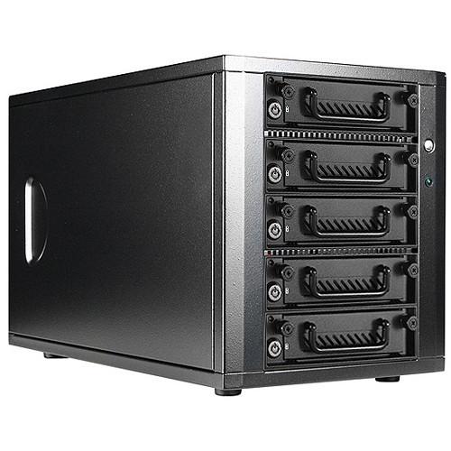 DAGE540TG5-PM Дисковое хранилище iStarUSA 5-Bay SATA 6.0 Gb/s eSATA-Port Multiplier Hotswap JBOD Enclosure with 250W Power Supply