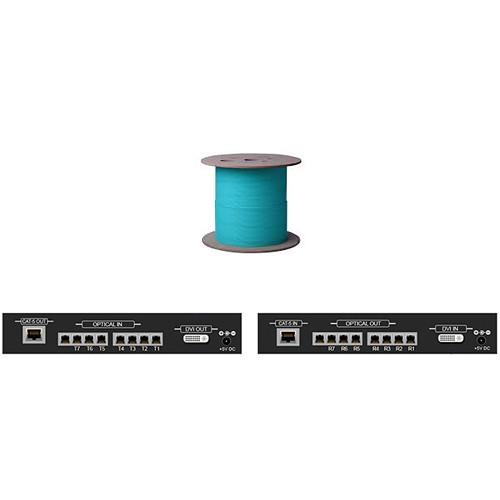 DVI-30-LC-DL Видео удлинитель/репитер APANTAC Dual/Single Link DVI Extender with 7 LC Fiber Optic and CAT5 Ports (Up to 100')
