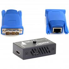 DVI-SET-1-II передатчик и приемник видеосигнала APANTAC DVI-D Transmitter to HDMI Receiver over CatX Set (115')