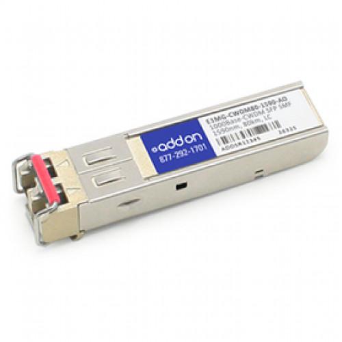 E1MG-CWDM80-1590AO Трансивер Addon Brocade E1MG-CWDM80-1590 совместимый 1000Base-CWDM SFP (SMF, 1590nm, 80km, LC)