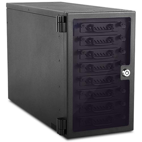 "EAGE8402TG-2MS Дисковое хранилище iStarUSA 8-Bay 2.5"" SAS/SATA 6.0 Gb/s miniSAS Hotswap Tower (Black)"