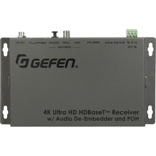 EXT-UHDA-HBTL-RX приемник видеосигнала GEFEN 4K HDBaseT Receiver with Audio De-Embedder and PoH