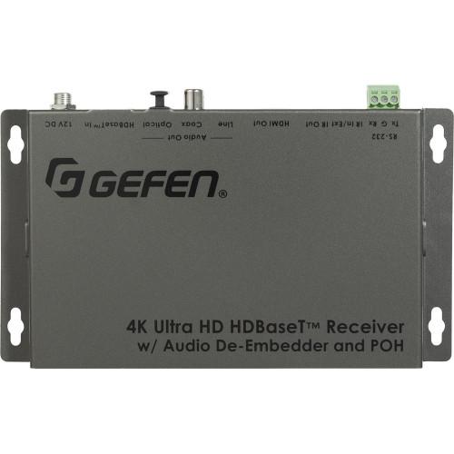 EXT-UHDA-HBTL-RX приемник видеосигнала GEFEN 4K HDBaseT Receiver with Audio De-Embedder and PoH