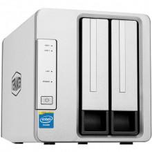 F2-221 Сетевой накопитель NAS TerraMaster NAS 2-Bay Cloud Storage Intel Dual Core 2.0GHz Plex Media Server Network Storage