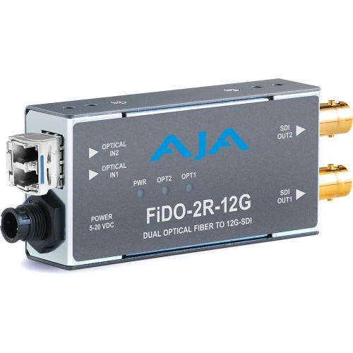 FIDO-2R-12G приемник видеосигнала AJA 2-Channel Single-Mode LC Fiber to 12G-SDI Receiver