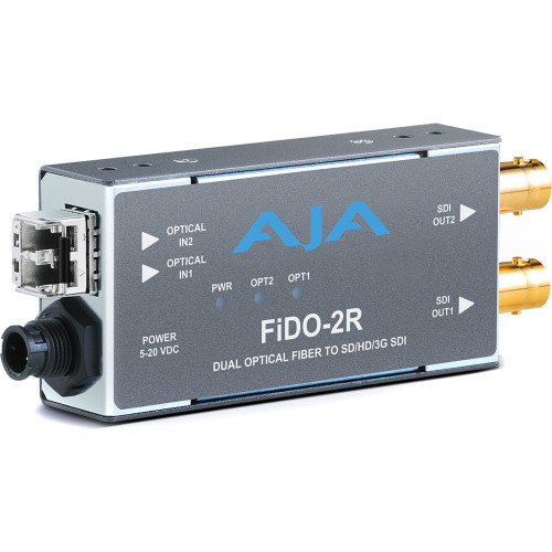 FIDO-2R-MM приемник видеосигнала AJA 2-Channel Multi-Mode LC Fiber to 3G-SDI Receiver