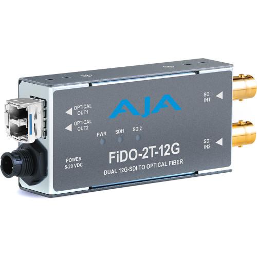 FIDO-2T-12G передатчик видеосигнала AJA 2-Channel 12G-SDI to Single-Mode LC Fiber Transmitter