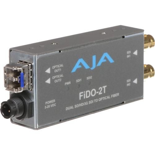 FIDO-2T Конвертер / преобразователь AJA FiDO Dual-Channel 3G-SDI to LC Fiber Mini Converter
