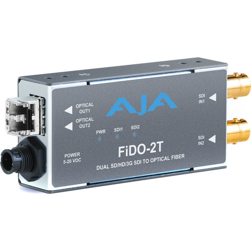 FIDO-2T-MM передатчик видеосигнала AJA 2-Channel 3G-SDI to Multi-Mode LC Fiber Transmitter