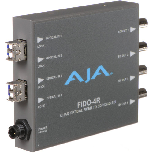 FIDO-4R Конвертер / преобразователь AJA FiDO Quad-Channel LC Fiber to 3G-SDI Mini Converter