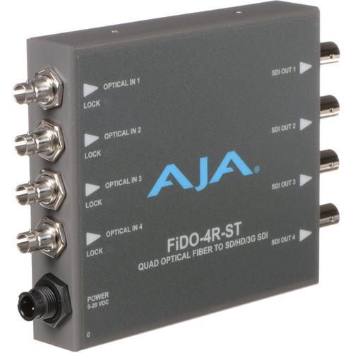 FIDO-4R-ST Конвертер / преобразователь AJA FiDO Quad-Channel ST Fiber to 3G-SDI Mini Converter