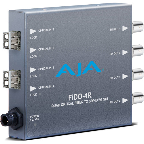 FIDO-4R-X Конвертер / преобразователь AJA FiDO Quad-Channel LC Fiber to 3G-SDI Mini Converter (No SFP Module)