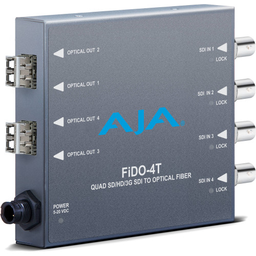 FIDO-4T-MM передатчик видеосигнала AJA 4-Channel 3G-SDI to Multi-Mode LC Fiber Transmitter