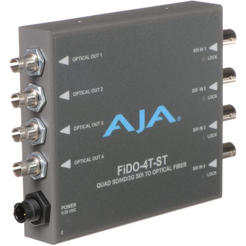 FIDO-4T-ST Конвертер / преобразователь AJA FiDO Quad-Channel 3G-SDI to ST Fiber Mini Converter