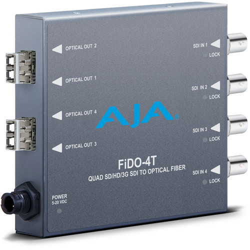 FIDO-4T-X Конвертер / преобразователь AJA Quad Channel SDI to LC Fiber Converter for CWDM Module