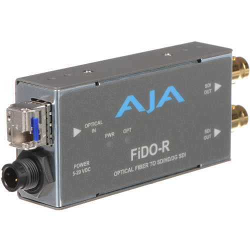 FIDO-R Конвертер / преобразователь AJA FiDO Single-Channel LC Fiber to 3G-SDI Mini Converter